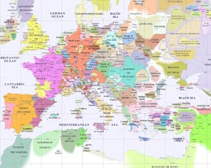 Map of Europe 1300